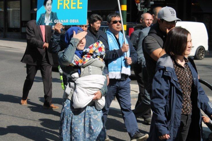 Stockholm'de Çin'i kınadılar