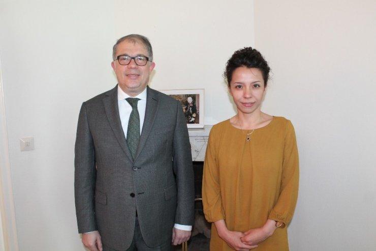 İsveç Kraliyet Ödülü alan Dr. Zora, Türkiye İsveç Büyükelçisi Yunt ile görüştü
